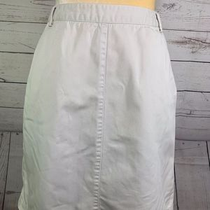 J Crew Beige A-Line Skirt with Pockets Size 10
